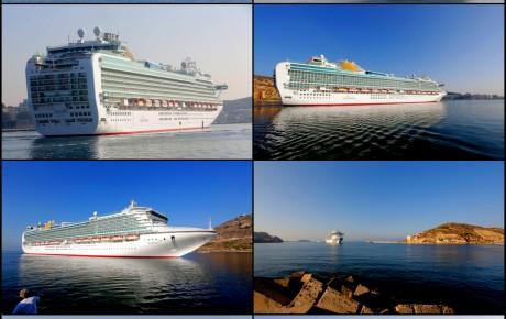"""El Crucero """"Ventura"""" visita Cartagena."""